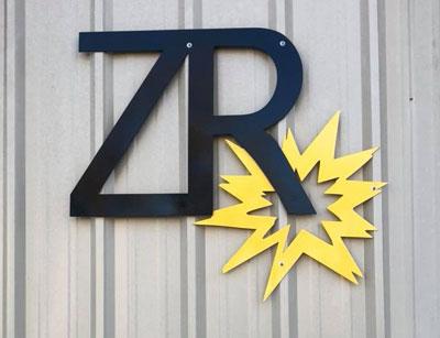 zakoda logo sign on side of building